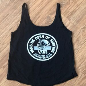 Vans tank top US open surfing Huntington Beach S